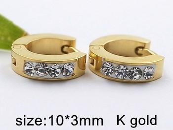 Náušnice Kruhy Chirurgická ocel zlatá 20361
