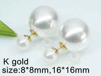 Náušnice oboustranné perličky 20354