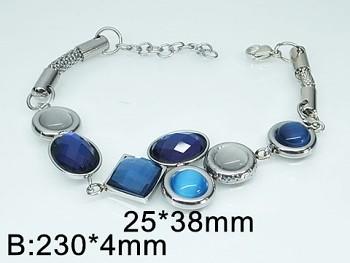 Dámský náramek z oceli modrý 20440
