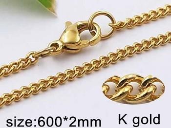 Řetízek zlatý ocelový 60 cm 20512