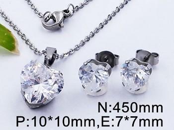 Set šperků z chirurgické oceli Srdce 20509