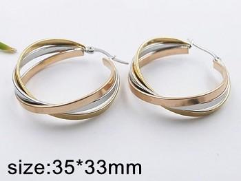 Náušnice z chirurgické oceli Kruhy 20523