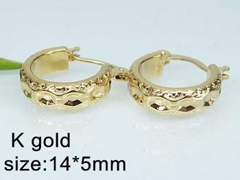 Náušnice z oceli zlaté Kruhy 20520