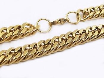 Řetěz zlatý z chirurgické oceli 60 cm 20546
