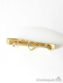 Kravatová spona zlatá úprava Golfová hůl 2979