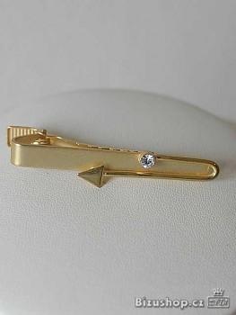Kravatová spona ve zlatém provedení - 5217