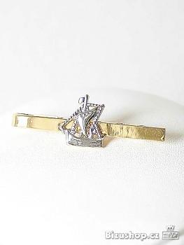Kravatová spona ve zlato stříbrné úpravě  4148