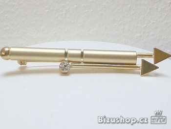 Brož zlatá Jablonecká bižuterie 5181