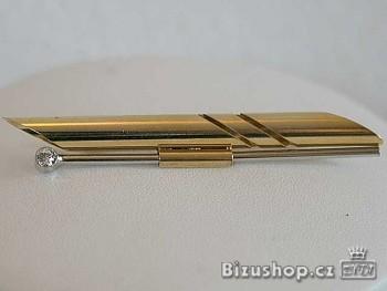 Brož zlatá 5290,6,5 cm na 0,8 cm, Jabloneeká bižuterie