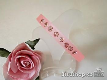 Náramek růžový štras 20025A