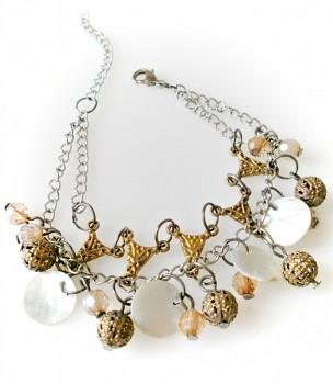 Náramek perleť korálky 2145