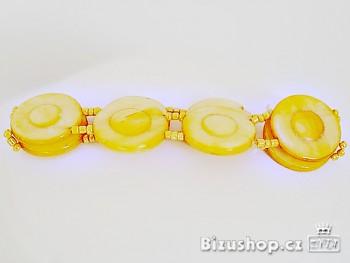 Náramek perleť žlutá 2407