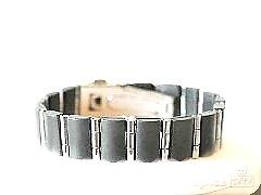 Ocelový náramek černý 15070