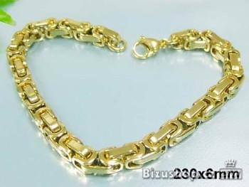 Chirurgická ocel náramek zlatý Unisex 17572