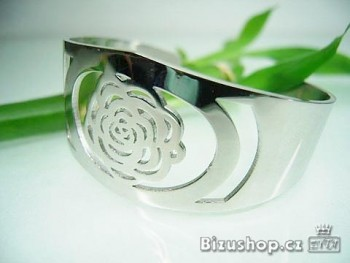 Ocelový náramek Růže 16136