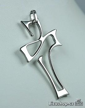 Přívěšek kříž z chirurgické oceli 15325