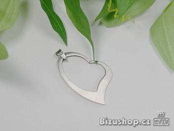 Přívěsek z chirurgické oceli srdce 1520803