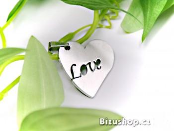Ocelový přívěsek Srdce  1505903