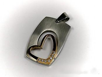 Chirurgická ocel přívěsek Srdce 15285