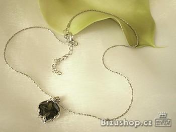 Řetízek s přívěskem zelený Zirkon 274601
