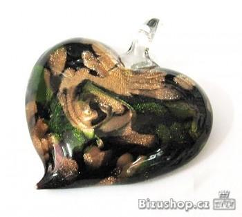 Přívěsek Srdce skleněné 2806B