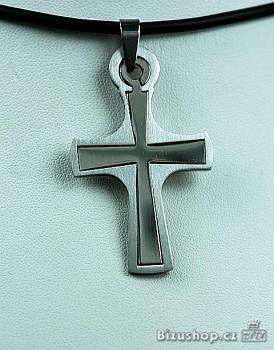 Chirurgická ocel  přívěšek kříž  1539301