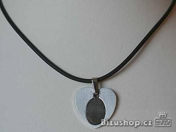 Chirurgická ocel přívěsek srdíčko 15042