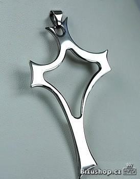 Chirurgická ocel přívěsek kříž 15383