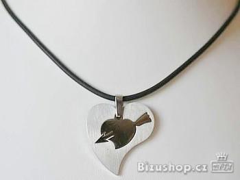 Ocelový přívěsek Srdce 15056