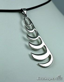 Náhrdelník chirurgická ocel přívěsek na bužírce 1538601