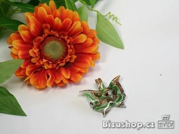 Přívěšek motýlek zelený  - 2804D