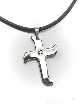 Chirurgická ocel přívěsek Kříž 15130