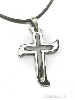Chirurgická ocel přívěsek Kříž 15131