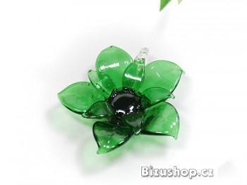 Přívěsek Květina zelená 2848B