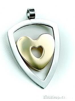 Zyta Ocelový přívěsek Srdce 15396