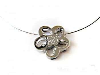 Náhrdelník lanko z oceli Růže 15980