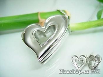 Přívěsek ocelový Srdce otevírací 16252
