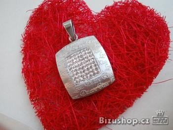 Ocelový přívěsek  Love 15959