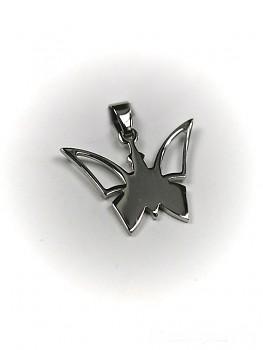 Přívěsek z oceli Motýl 15242