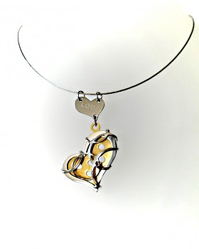 Náhrdelník ocelový Srdce 15595
