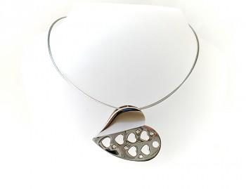 Náhrdelník ocelový Srdce 15413
