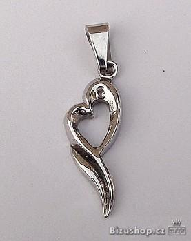Chirurgická ocel přívěsek Srdce 15356