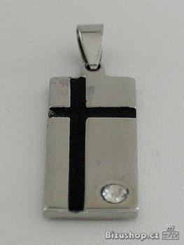 Přívěsek Chirurgická ocel černý kříž 1503903  Zyta