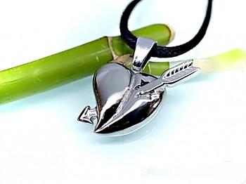Přívěsek srdce z oceli 16695