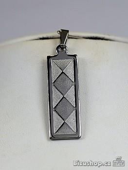Přívěsek z chirurgické oceli destička 1512903