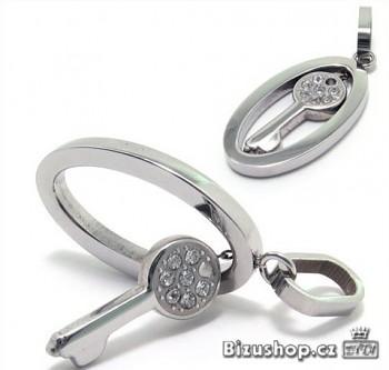 Zyta Přívěsek ocelový klíč 15960