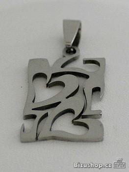 Přívěsek z chirurgické oceli, srdce 15162