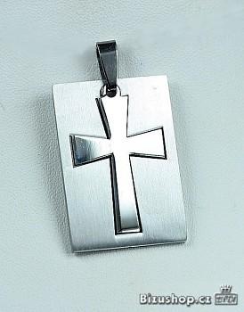 Přívěšek Chirurgická ocel kříž 15399