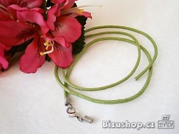 Šnůrka neukončená zelená 20019