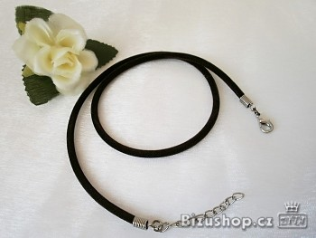 Šnůrka sametová kulatá, černá - 20023